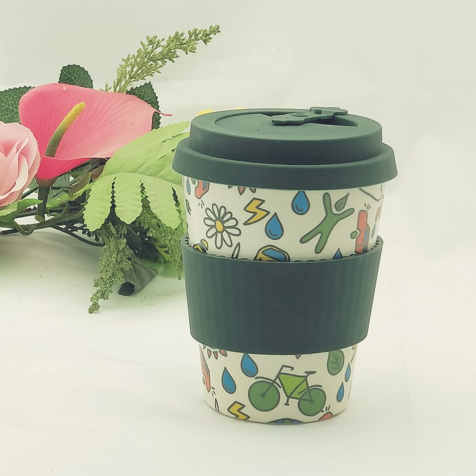 eco friendly arabic disposable bamboo fiber coffee thermo <strong>cup</strong>