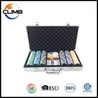China Customized Professional OEM Supply sticker Poker Chips 300 aluminium case poker chips set