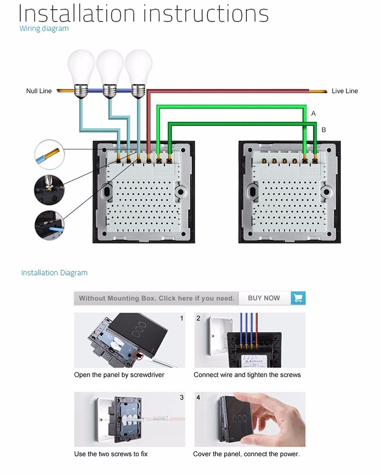 Atemberaubend Installieren Eines 3 Wege Schalters Fotos ...
