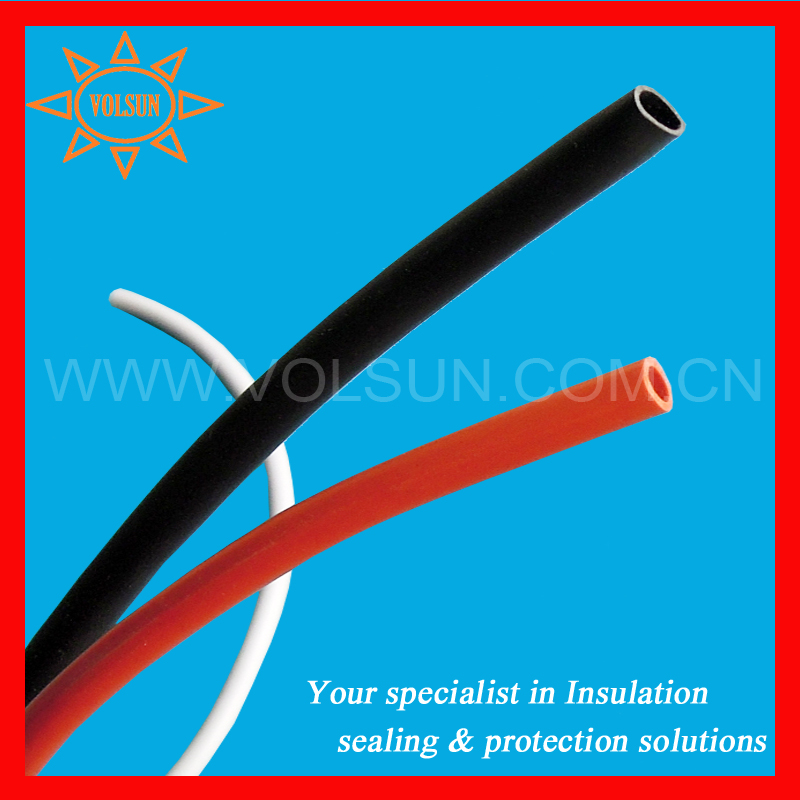 wire harness insulation 30mm heat shrink silicone tube black