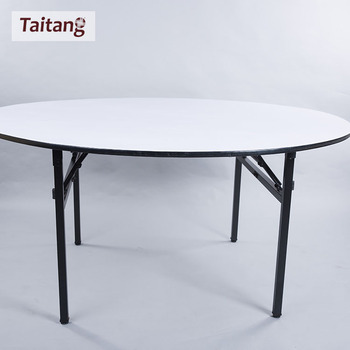 Chinese wholesale hotel round plywood banquet table