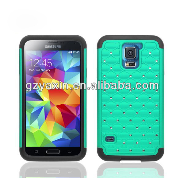 silicone case for samsung s5,jewel phone case for samsung s5