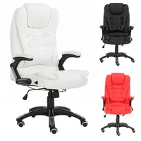 High Back White best furniture office armrest chair for staff