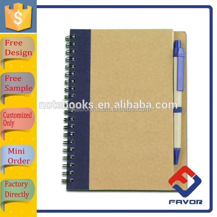 new product spiral hardcover notebook a4 with pen for office with elastic