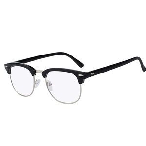 Clear flat lens stock offering plastic sunglasses for unisex