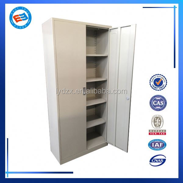 laptop wood storage cabinet with 4 shelves