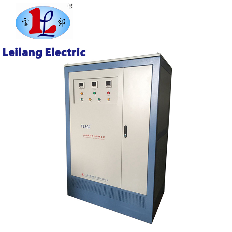 High density customized TESGZ series three phase voltage regulator 80kva with good price