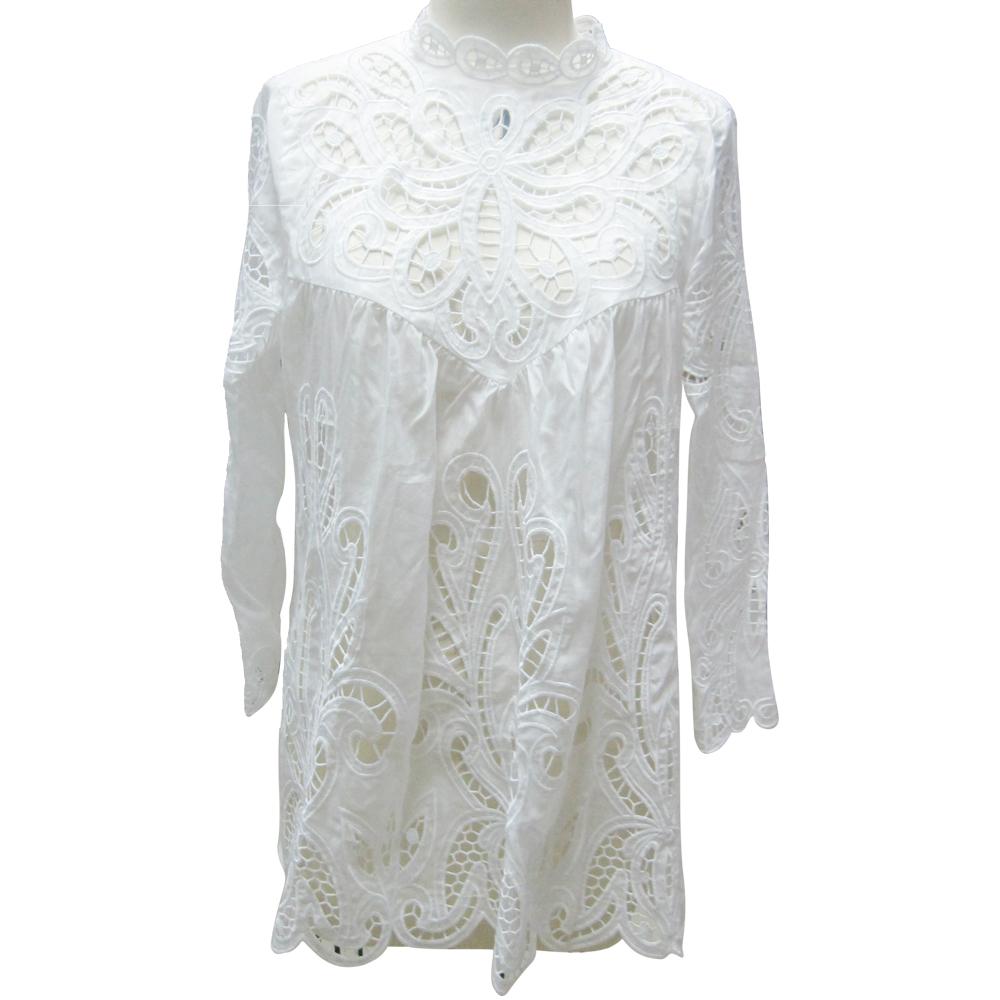 Encuentre el mejor fabricante de blusas con apliques en crochet y ...