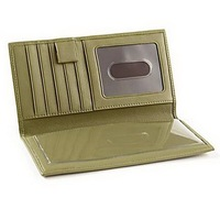Deluxe genuine leather checkbook wallet checkbook cover