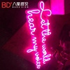 3d led pink neon letters shop name custom acrylic board led advertising pink neon sign for bars clubs