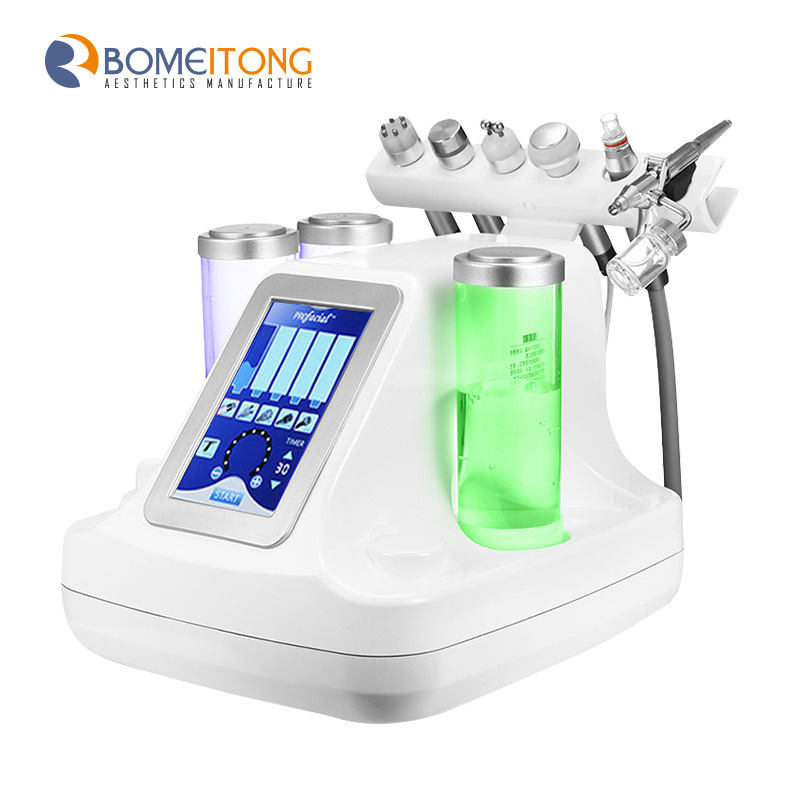 8 in 1 oxygen aqua peel skin spa beauty machine with led mask фото