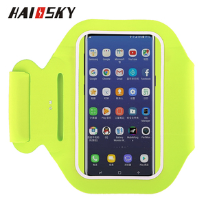 HAISSKY High Quality running logo printed sport armband jogging case for iphone 6 7 8 6plus 7plus 8plus X