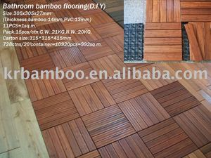 Carbonized Strand Woven Bamboo Flooring--Outdoor bamboo flooring tile