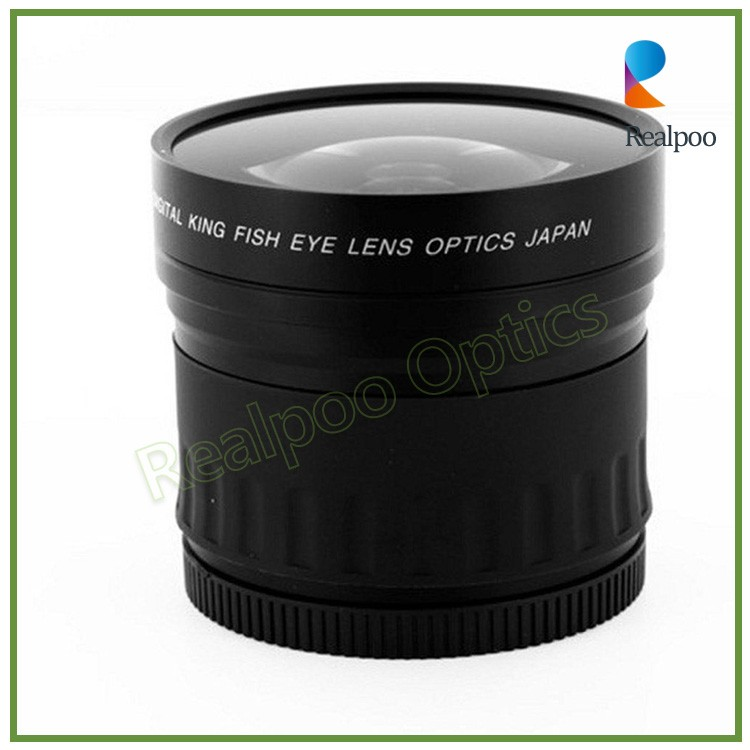 High Definition 52mm 0.21x Fisheye Lenses For Digital Camera