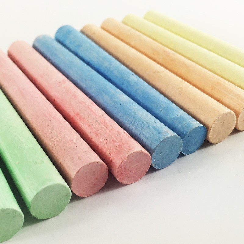 Non-Toxic Dustless 100 sticks colour chalks for classroom for school chalk
