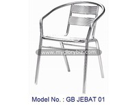 outdoor aluminium chair, garden chair, modern armchair