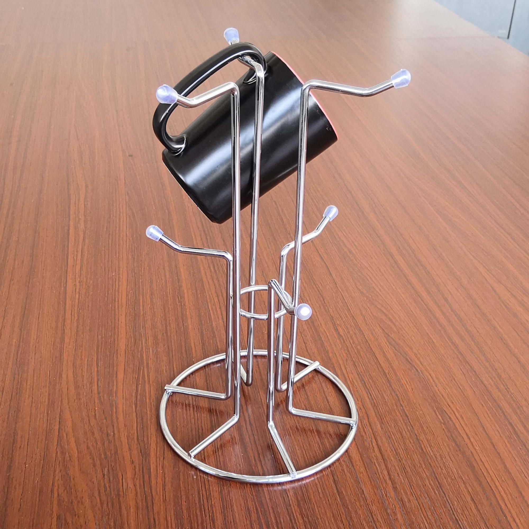 Unique Design Stylish cup handle and mug tree holder Organizer drying rack stand