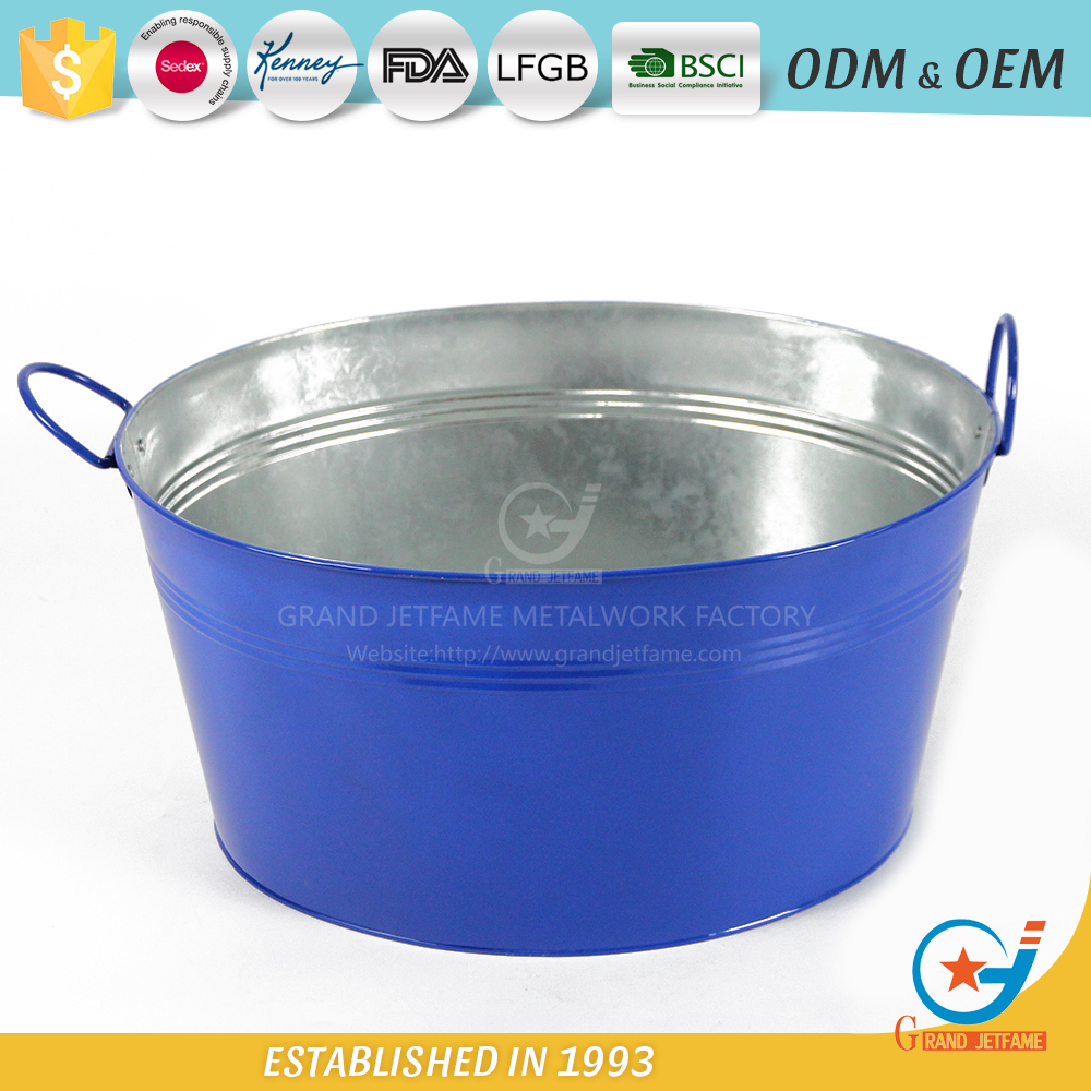 19 inch iron garden beverage tub metal metal ice tub