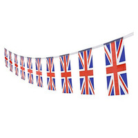 UK British Flag,100Feet/76Pcs United Kingdom Union Jack National Country World Pennant Flags Banner,Party Decoration Supplies