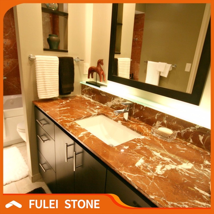Hotel Supply Rojo Alicante Red Marble Commercial Bathroom Countertop   Buy Red  Marble Countertop,Commercial Bathroom Countertop,Marble Countertop Product  On ...
