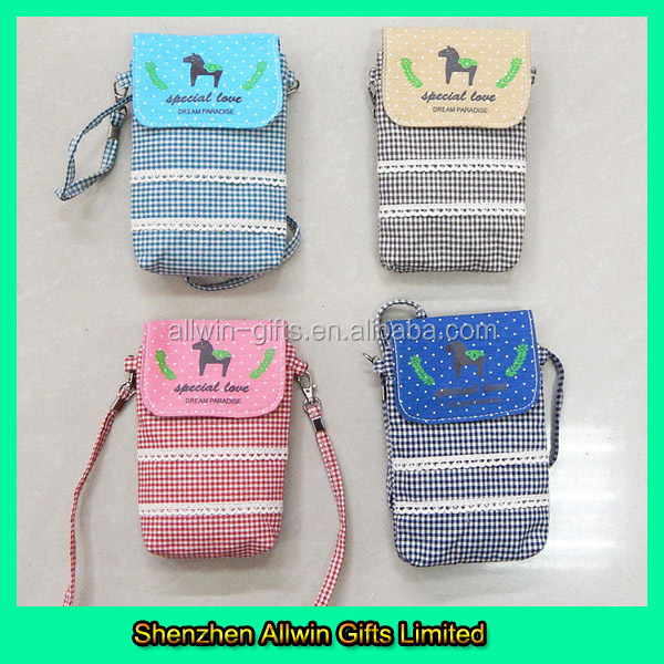 Leisure Cotton Cell Phone Sling Bag For Large-screen Phone ...