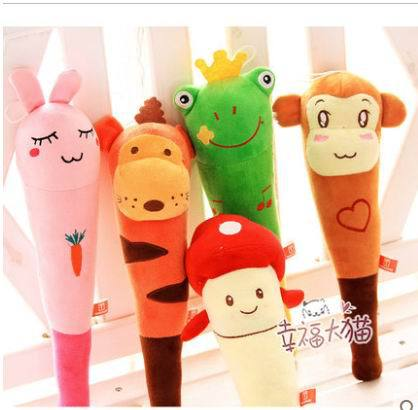 Fruit doll and yellow frogs monkey pig cartoon rabbit wool cloth with soft nap back rubs