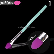 Purple Silicone + Green Handle Professional Makeup Brush Set 8 pcs Foundation Concealer Eyeshadow Makeup Brush