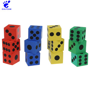 Wholesale logo printed jumbo EVA foam dice