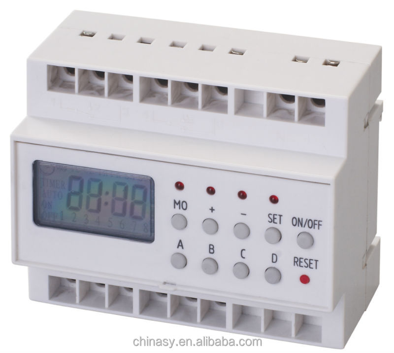 Digital Industrial Timer with Slim Switch for Easy Setting, 20 On/Off Programs