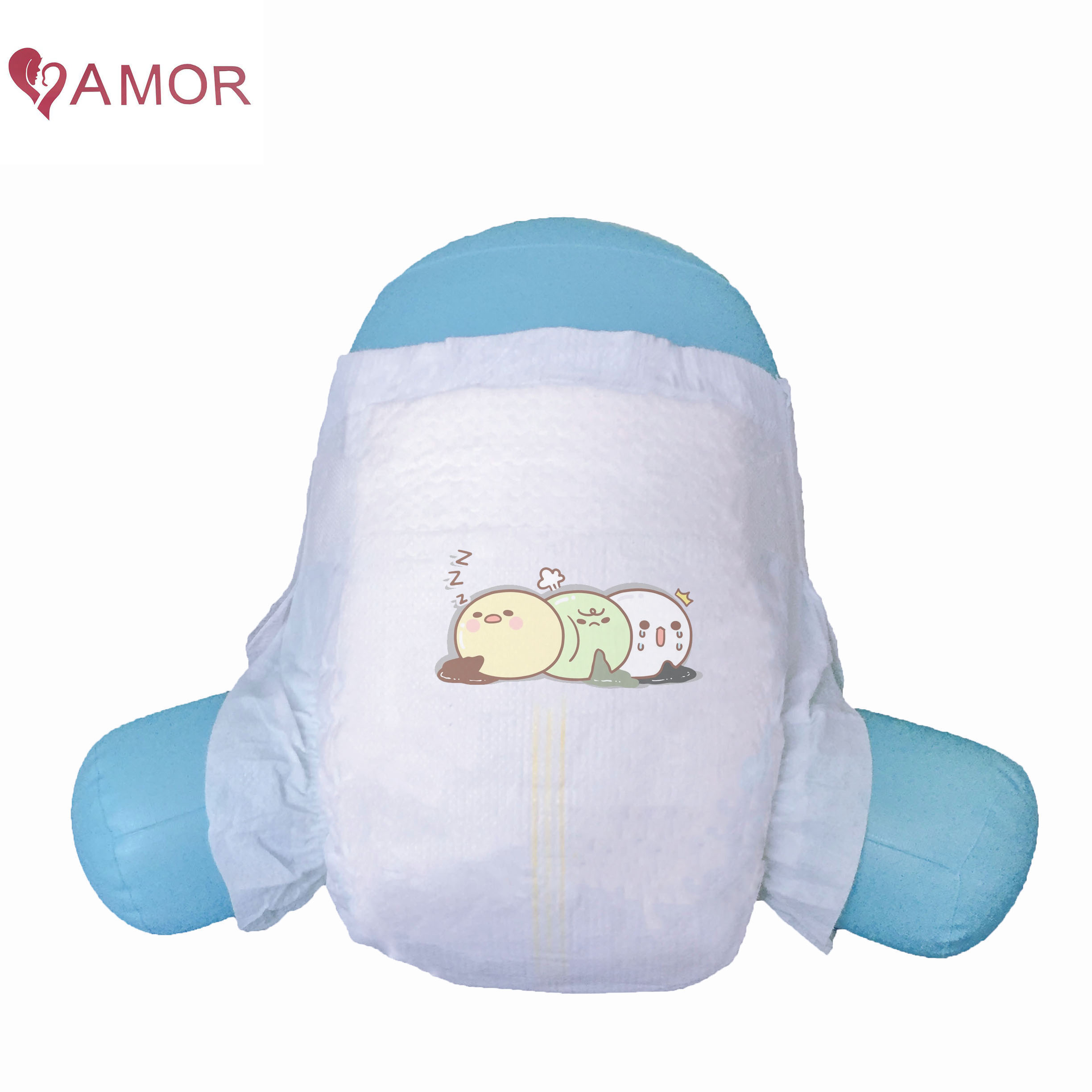 Free Sample Top Quality  Elastic Waist Band Waterproof Breathable Soft Organic Cotton Baby Diaper Manufacturer