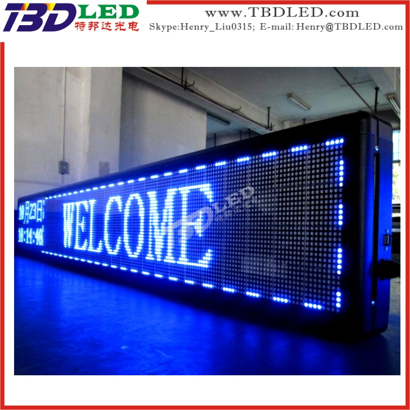 Programmable led enseigne publicitaire led d filement for Ecran exterieur led