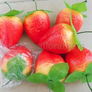 Hot sale artificial strawberry summer fruits names of red fruits