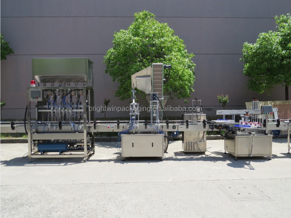 Full automatic mascara filling machine line with CE standard