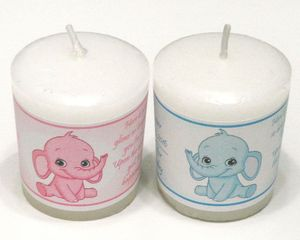 wedding and baby baptism shower souvenirs return gift candle decoration favor