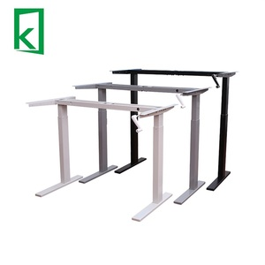 QJB312 Height adjustable office message table sit stand desk frame