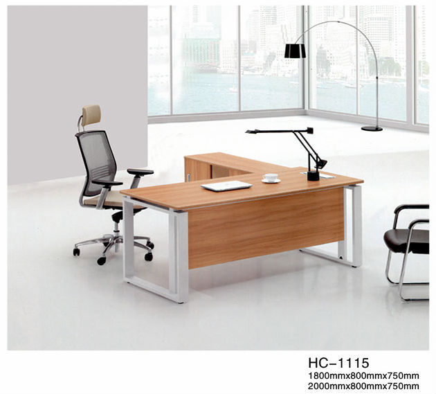 Beautiful Design L-Shape Executive Table Furniture Unique Office Desk HC-1115