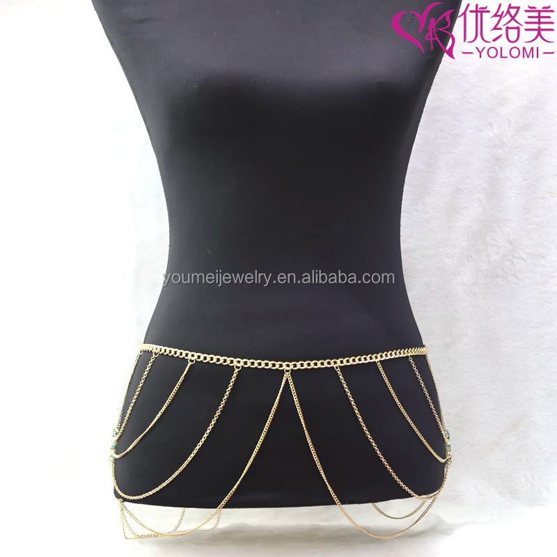 Belly Waist Chains Body Chain Jewelry Summer Jewelry Bikini Beach Body Waist Belly Chain YMWC-2844