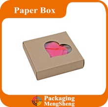 Custom Strong Carton Corrugated Board Paper Packaging Box with Clear PVC Window