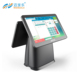2018 new design dual screen shenzhen supermarket cash register android two touch pos system with nfc reader