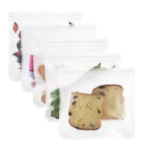 Reusable Storage Bags Extra Thick PEVA Ziplock Bags Ideal For Lunch Sandwich, Food Snacks, Make-up
