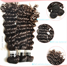Guangzhou Mona Hair latest product for black women no split hair thick end deep wave unprocessed virgin indian hair