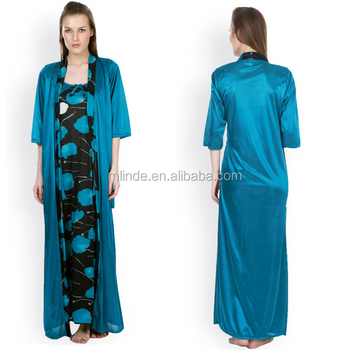 ed79fc6b2b Cheap Silk Robes Kimono 3 4 Sleeve Satin Sleepwear Plain Bridesmaid Open  Front Long Maxi