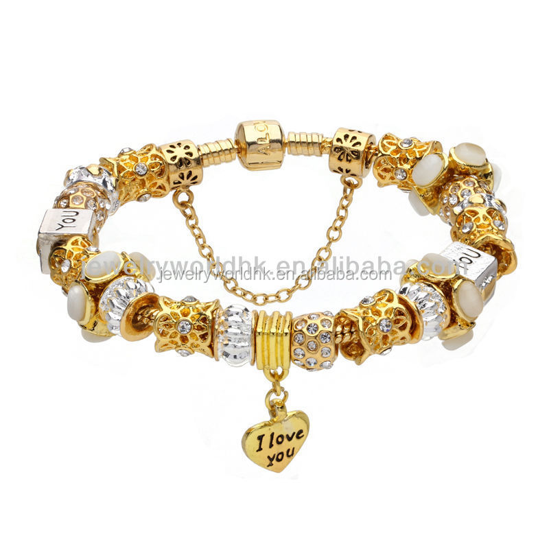 Global jewelry, global golden dangle bracelet wholesale cheap global jewelry
