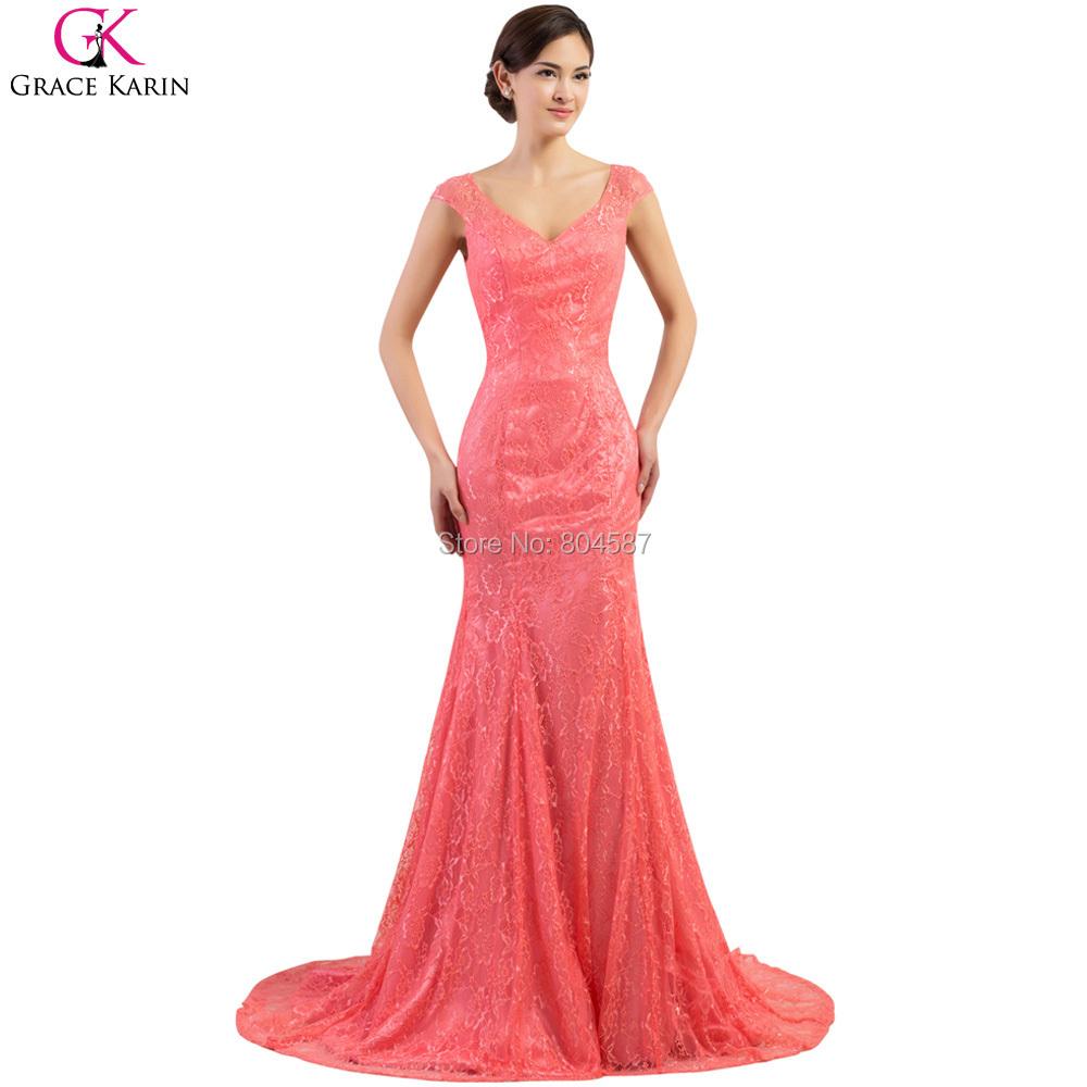Buy Robe Long Grace Karin Mermaid Lace Backless Formal Night Dress ...