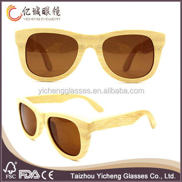 wooden sunglasses polarised made by nature <strong>bamboo</strong> with brown lenses