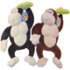 Strong stuffed orangutan plush toys with holding banana