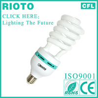 buy china direct E27 base T4 14mm 45W half spiral power saving gls bulb