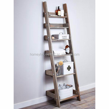low priced 5b778 9d53d Factory Top Sale Distressed Rustic Wooden Ladder Shelf - Buy Rustic Ladder  Shelf Product on Alibaba.com