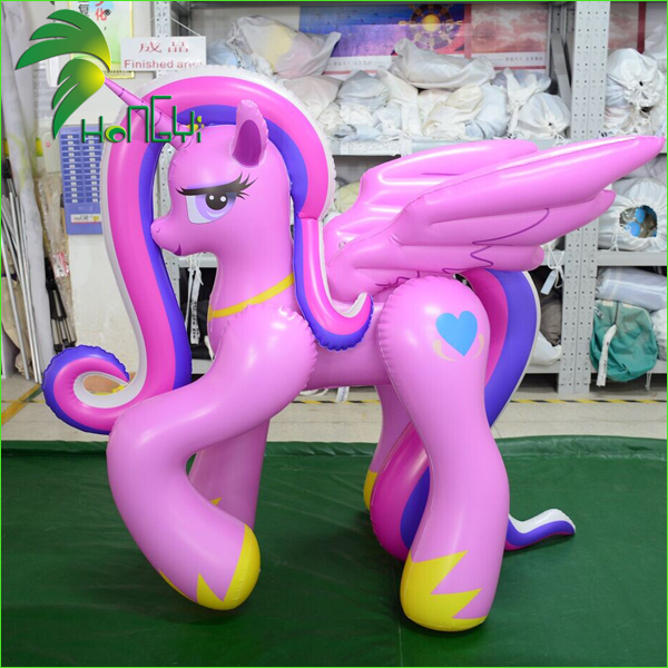 Cartoon Character Soft PVC Inflatable Horse , Sexy Girl With Horse For Sale