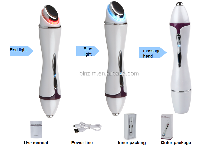 Skin care home use face and eye muti-function Photon vibration beauty device with iontophoresis